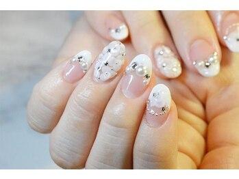 ネイルサロンブラン(nail salon BLANC)/バラ埋め尽くしブライダルネイル