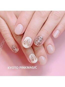 ピンクマジック(PINKMAGIC)/ツイードネイル