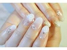 ネイルサロンブラン(nail salon BLANC)/グラデーションとバラブライダル
