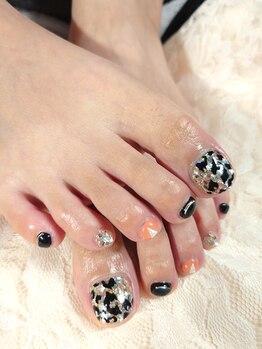 ビューティーアンドネイルサロン リマ(Beauty&Nailsalon Rima)の写真/【オフ無料★フットコース】お持ち込み画像OK ¥7,000★小さい足のお爪も、ペイントアートが楽しめる♪
