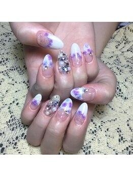 プライベートサロンアリュール(Private Salon Allure)/梅雨の紫陽花ネイル