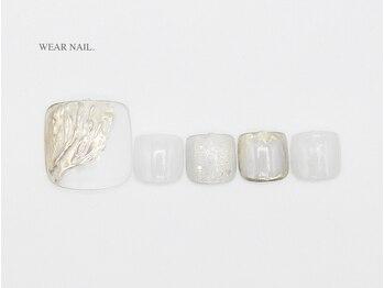 ウェアネイル(WEAR NAIL.)/ウェーブミラーネイル¥10120