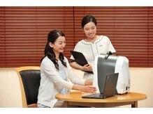 肌質検査機を使ってあらゆる角度で肌のスキンチェック&カウンセリング