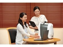 『カウンセリング&肌質診断』 肌質検査機を使って細かく肌解析!