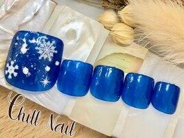 フット定額シンプル雪の結晶nail