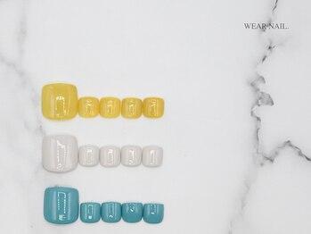 ウェアネイル(WEAR NAIL.)/フットネイルブレンドカラー見本