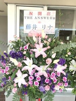 ジ アンサー(THE ANSWER)/【モデル】藤井 リナさん