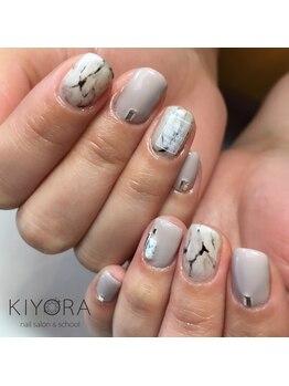 ネイルサロンキヨラ(KIYORA)/大人大理石ネイル