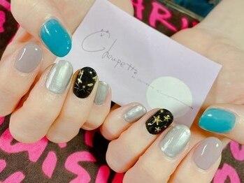 ネイル シュペット(nail Choupette)の写真/オトナ女子にぴったり♪ショートネイルでも爪がスラッと美しく見えるシンプルで飽きのこないデザイン多数☆