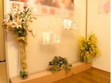 メナードフェイシャルサロン ピュアベリー神宮の雰囲気(サロンを彩るお花にも注目☆)