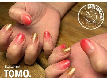 ブルージャムネイル(BLUE.JAM.nail)/ラメ&カラーグラデーション