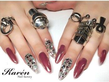 ネイルファクトリー カレン(Nail factory Karen)/ロング!ピンクミラーネイル