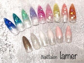 ネイルサロン ラメール(Nail Salon lamer)/アクリルスカルプグラデーション