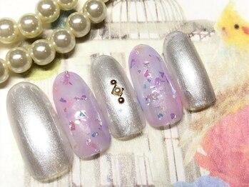 ネイルアンドアイラッシュ ブレス エスパル山形本店(BLESS)/ふんわり春色ニュアンス!