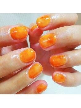 クローバーナチュレ(clover nature)/斑オレンジ