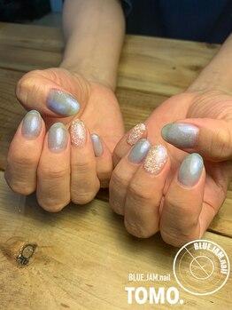 ブルージャムネイル(BLUE.JAM.nail)/透け感のあるブルーネイル♪