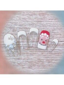 アルファ ネイルズ(ALPHA NAILS)/クリスマスネイル≫初回 ¥8,600