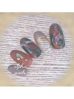 アルファ ネイルズ(ALPHA NAILS)/冬ネイル≫初回 ¥8,600
