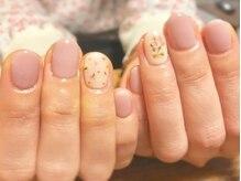 フェミニンピンク・押し花