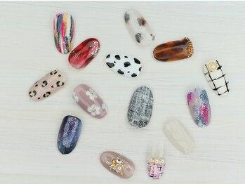 サティスネイル(Satis nail)の写真/定番のデザインから流行のアート、個性派も豊富に描きます!やりたいデザインが必ず見つかる♪