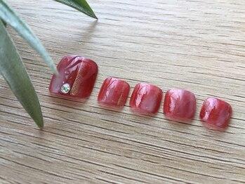 ネイルズ ラ ブリーサ(nails La Brisa)/大人上品フットネイル☆