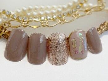 ネイルアンドアイラッシュ ブレス エスパル山形本店(BLESS)/シンプルニュアンス