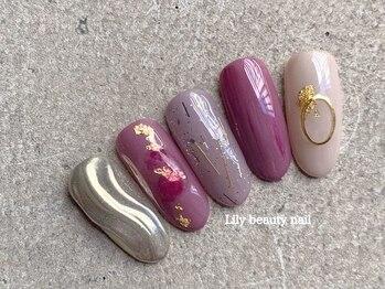 リリービューティーネイル(Lily beauty nail)の写真/<オフ込定額コ-ス¥3990 ¥4490 ¥5790 ¥5990 ¥6490 ¥7490>分かりやすい値段が◎人気のマグネットネイル導入★