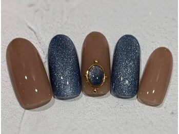 ネイルアンドアイラッシュ ブレス エスパル山形本店(BLESS)/マグネットネイル