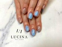 ネイルスタジオ ルキナ(LUCINA)/YM-375 夏カラー×MIXラメ