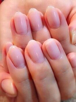 ユーネイル(U-nail)の写真/【自爪の補強に★ジェルネイル(クリア)¥4000】マットコートも対応可能♪初めての方にも♪