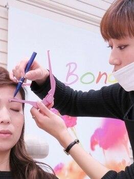 ラボンド 菜園店(La Bond)の写真/お顔の印象は眉毛でキマる♪自社開発の顔分析アプリから導き出す、なりたいイメージに合わせた眉デザイン★