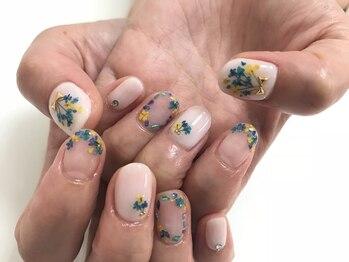 ネイルサロン ミヤビ(MIYAVI)/押し花ネイル