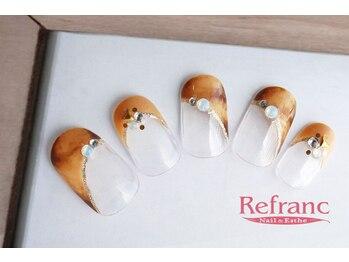 ルフラン 武蔵境店(Refranc)/べっ甲風ネイルで秋色に!