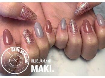 ブルージャムネイル(BLUE.JAM.nail)/ワンカラー☆design by MAKI