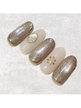 ライト ネイルズ ニシノミヤ(light nails NISHINOMIYA)/10本アートネイル☆¥8800