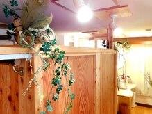 ヴェルデ フォレ(verde foret)の雰囲気(店内の木目と緑のバランスで心からリラックス♪)