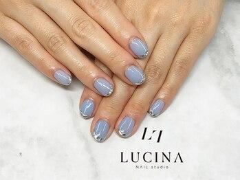 ネイルスタジオ ルキナ(LUCINA)/C-266 ガラスフレンチネイル