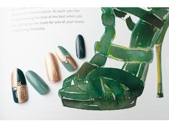 ルーヴル ネイルアンドアイラッシュ 生駒(LOUVRE nail&eyelash)/モスグリーン