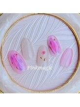 ピンクマジック(PINKMAGIC)/一輪の花ネイル