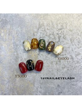 ファーストネイルアンドアイラッシュ 札幌駅前店(1stNAIL&eyelash)/■定額デザイン¥8000/¥5000■