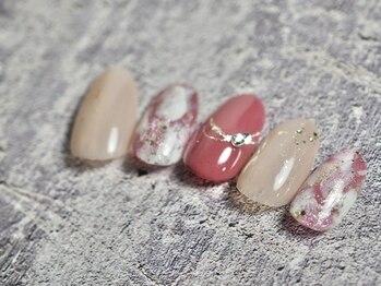 コットン ネイル(cotton nail)/1月マンスリーネイル