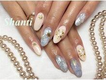 シャンティ ネイルサロン(Shanti nail salon)/冬 雪の結晶ネイル!