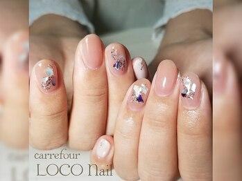 カルフール ロコ ネイル 草加西口店(Carrefour LOCO nail)/シンプルネイル/お客様写真
