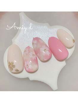 アミーディ ネイル(Amiy.d Nail)/【定額】8800円☆桜