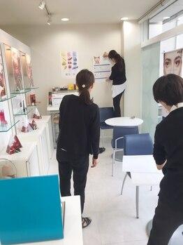 ポーラ ザ ビューティ 新潟店(POLA THE BEAUTY)/2019.12 店内ディスプレイ