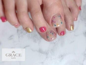 グレース ネイルズ(GRACE nails)/ドライフラワー