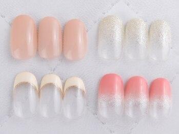 ワイスネイル(Weiss nail)の写真/【ワンカラ-&ラメグラ初回¥4000】計200種類のカラ-をご用意!上品な指先を演出♪魅力的な美爪を叶えます☆