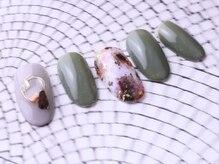 レイ ネイルアンドセレクトショップ(Lei Nail&Selectshop)/天然石×ワイヤー[パラジェル有]