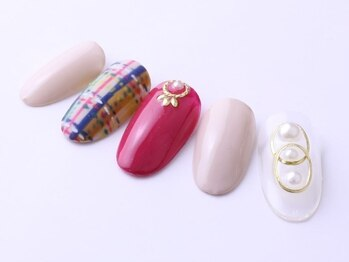 レイ ネイルアンドセレクトショップ(Lei Nail&Selectshop)/大人手描きチェック