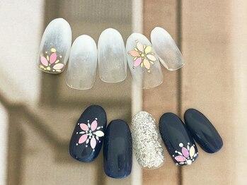 ネイルサロン キャンディネイル(Candy Nail)/雪の結晶ホロ by横山